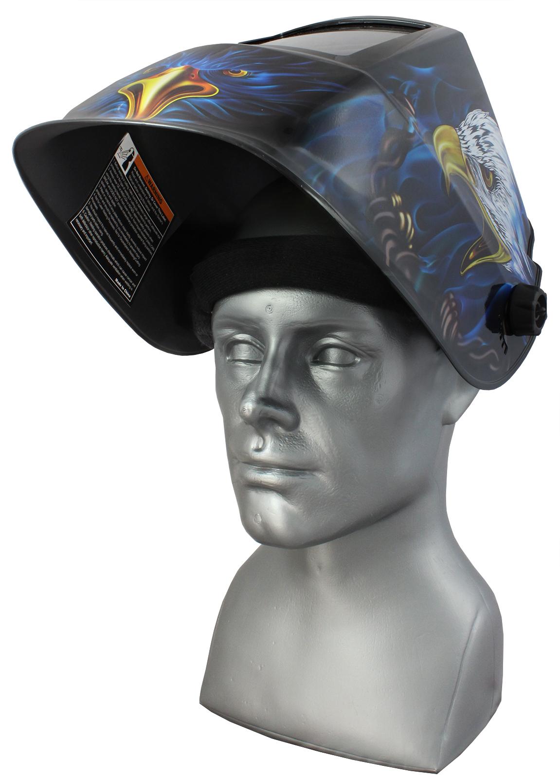 Maska przyłbica samościemniająca TECMEN GRIND 820S  Eagle szeroka 95x85 mm
